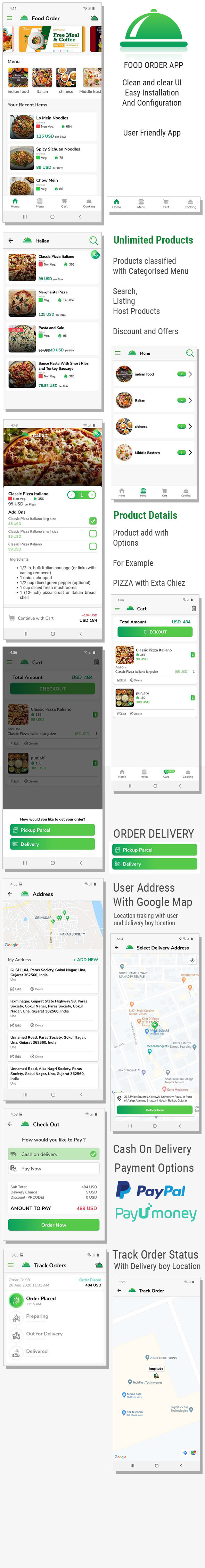 Single Restaurant Food Order Flutter full product Android & IOS + Delivery boy Native Android app - 1